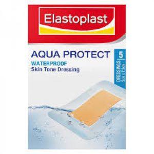 Elastoplast Aqua Protect Waterproof 5cm x 7.2cm Skin Toned 5 Strips