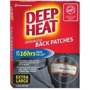 Deep Heat Back Patches 2 Pack | Extra Large | Mentholatum
