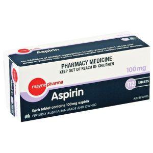 BUY Mayne Aspirin 100mg 112 Tablets