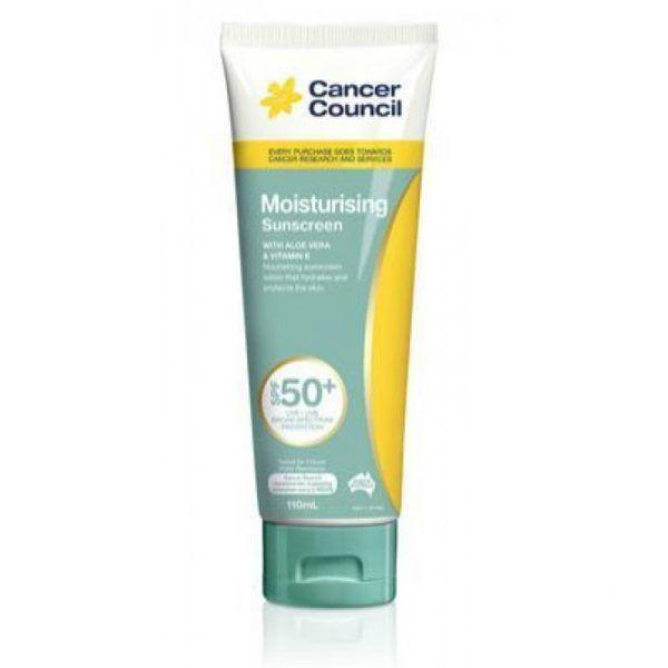 Cancer Council Moisturising Sunscreen SPF50+ Tube 110ml
