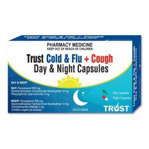 Trust Cold & Flu + Cough Day/Night Capsules 24