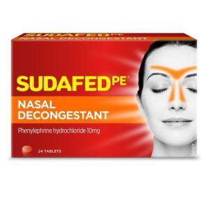 Sudafed PE Nasal Decongestant 24 Tabs