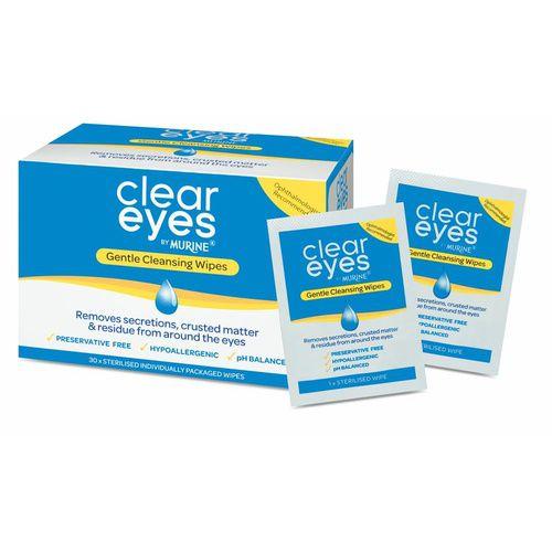 Murine Clear Eyes Gentle Cleansing Wipes 30