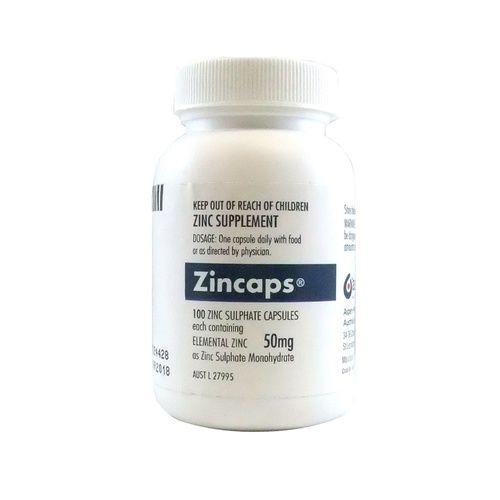 Zincaps 50mg Sulphate Capsules 100 3