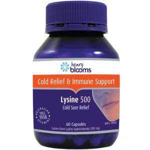 Henry Blooms Lysine 500mg 60 Capsules