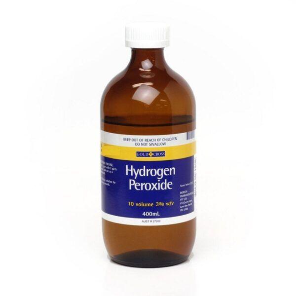 Gold Cross Hydrogen Peroxide 3% 10 Volume 400mL 3
