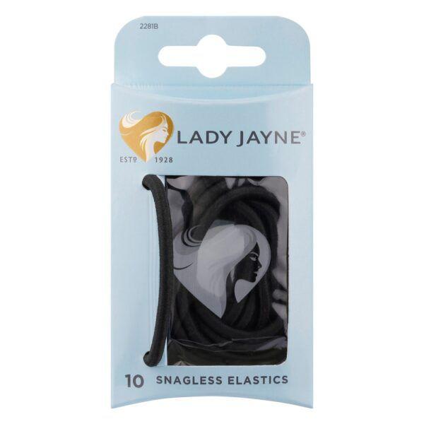 Lady Jayne Snagless Hair Elastics Black 10 3