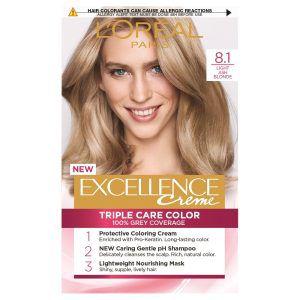 L'Oreal Excellence Permanent Hair Colour-8.1 Ash Blonde
