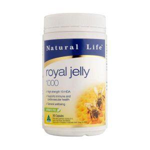 Natural Life Royal Jelly 365 1000MG 1.2% HDA