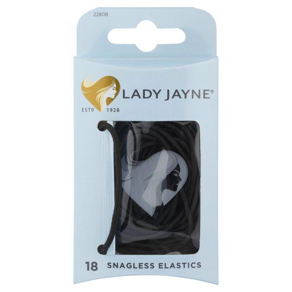 Lady Jayne Black Snagless Elastics – Pk18