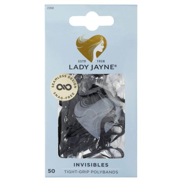 Lady Jayne Black Snagless Elastomer Elastics – Pk50