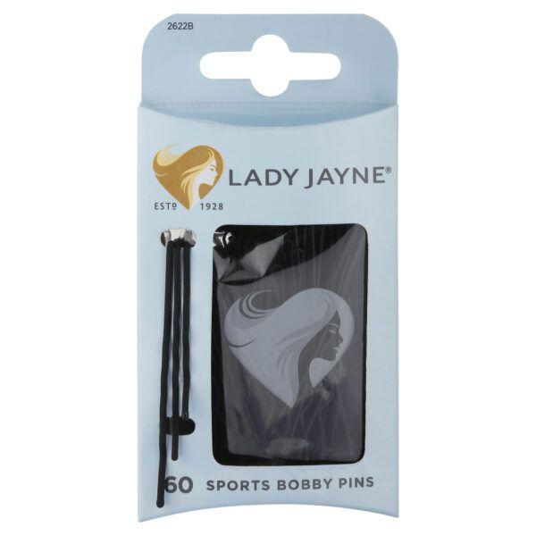 Lady Jayne Black Super Hold Contoured Bobby Pins – 60 Pk