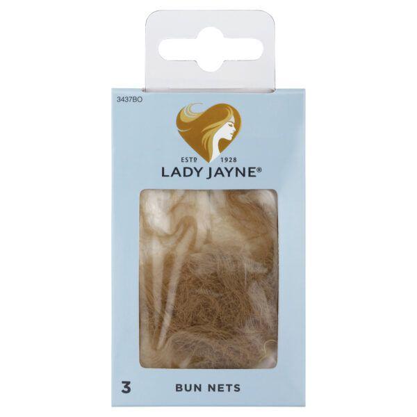 Lady Jayne Blonde Bun Nets – 3 Pk