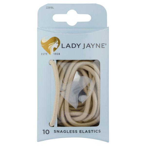 Lady Jayne Blonde Snagless Thick Elastics – Pk10