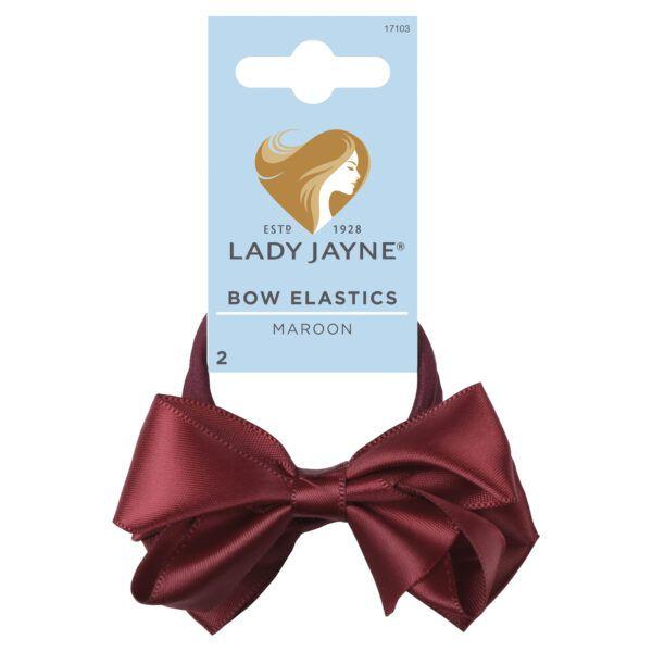 Lady Jayne Bow Elastics Maroon 2 Pack