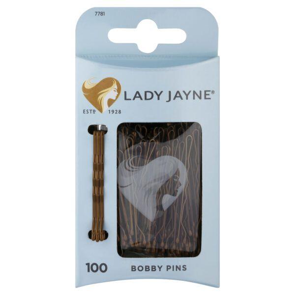 Lady Jayne Brown Bobby Pins – 100 Pk