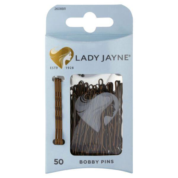 Lady Jayne Brown Bobby Pins – 50 Pk