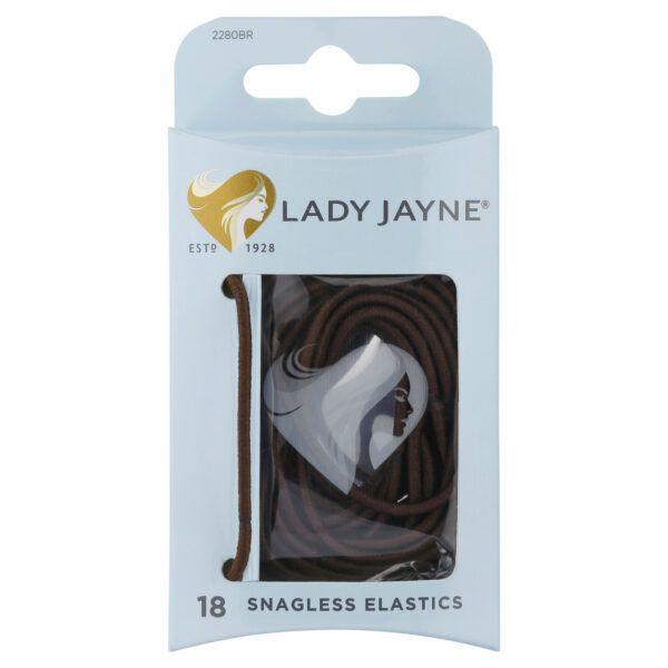 Lady Jayne Brown Snagless Elastics – Pk18