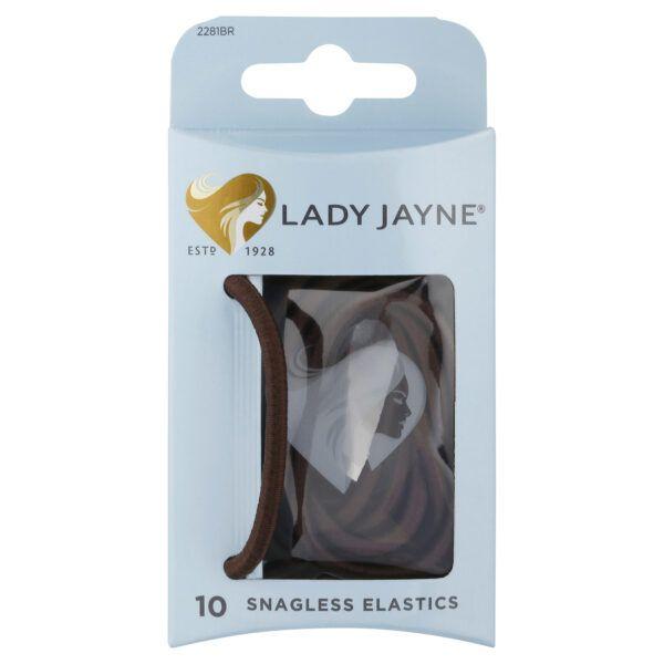 Lady Jayne Brown Snagless Thick Elastics – Pk10