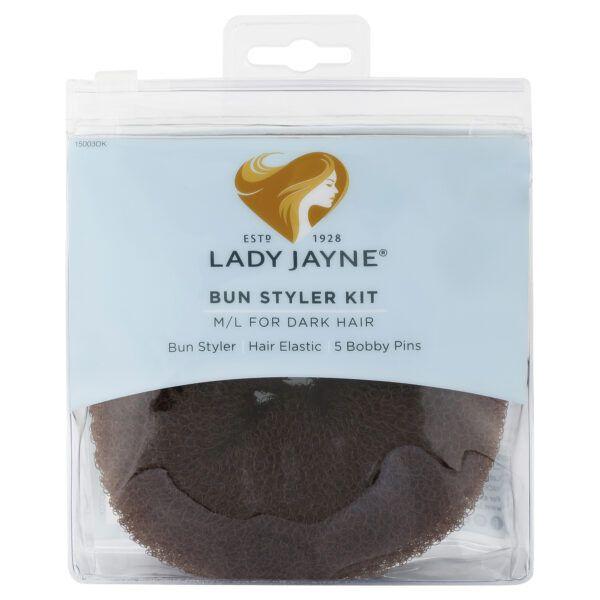 Lady Jayne Dark Bun Styler Kit – M/L
