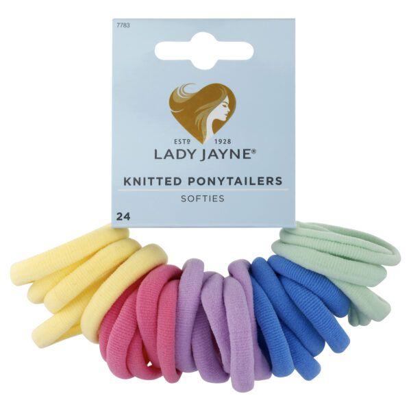 Lady Jayne Pastel Soft Knitted Ponytailers – Pk 24
