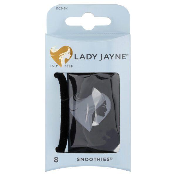 Lady Jayne Smoothies Black Luxury Elastics – 8 Pk