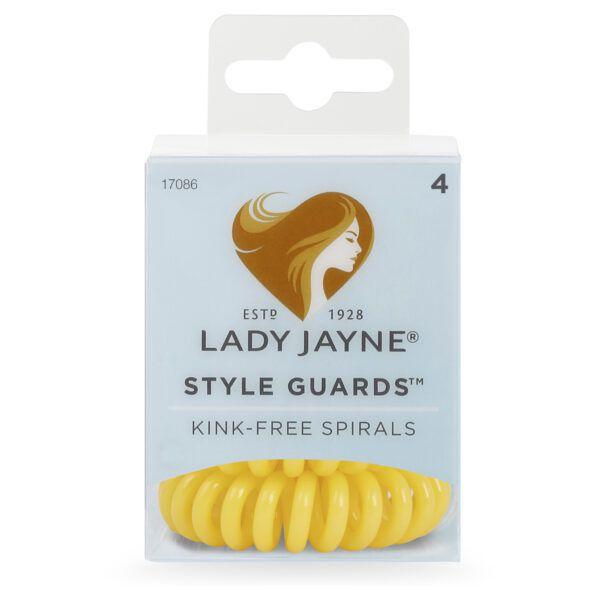 Lady Jayne Style Guards Yellow Spiral Elastics – 4 Pk