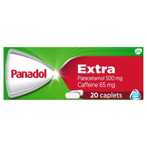 Panadol Extra with Optizorb, Paracetamol Pain Relief Caplets, 20 4
