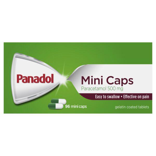 Panadol Mini Caps for Pain Relief, Paracetamol 500 mg, 96 5