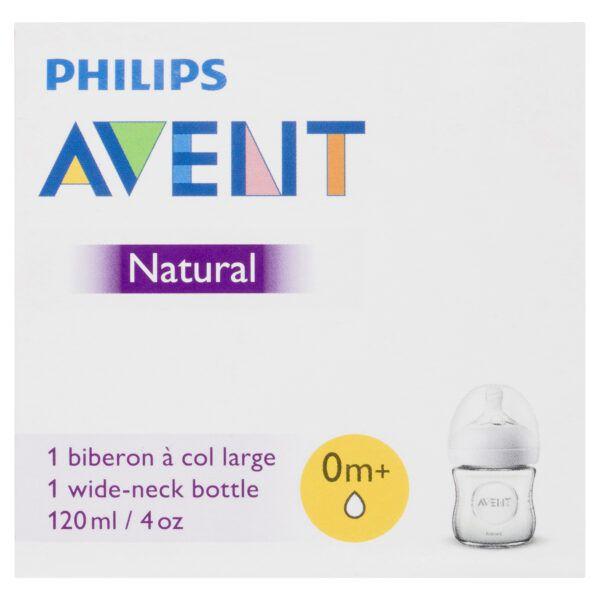 Philips Avent Natural Bottle Glass 0m+ 120mL