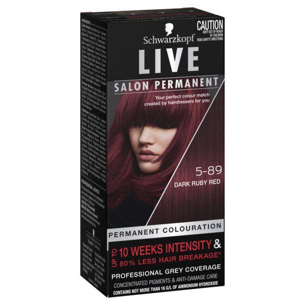 Schwarzkopf Live Salon Permanent 5-89 Dark Ruby Red