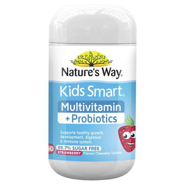 Nature's Way Kids Smart Multivitamin + Probiotics 50 tablets