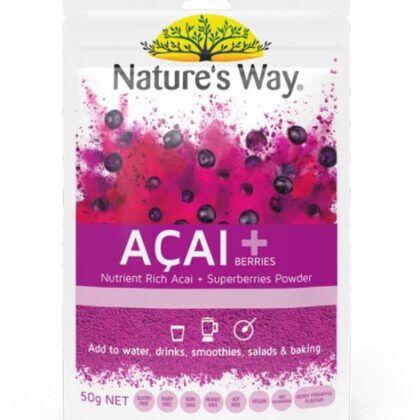 Nature's Way Superfoods ACAI + Berries 50g