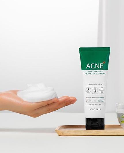 Some By Mi AHA BHA PHA 30 Days Miracle Acne Clear Foam 100ml 5