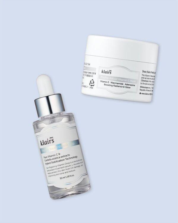 Klairs Vitamin Duo Trial Kit – Full size Vitamin Drop + Mini VIT E mask