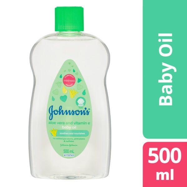 Johnson's Baby Oil Aloe Vera & Vitamin E 500mL