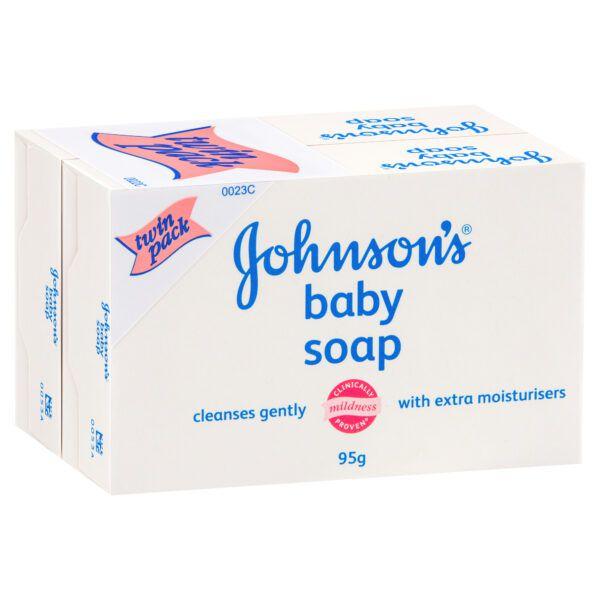 Johnson's Baby Soap Bar Twin Pack 2 x 95g