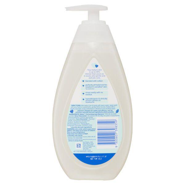 Johnson's Cotton Touch Newborn Wash & Shampoo 500mL