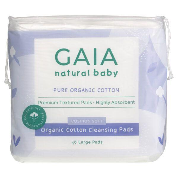 GAIA Natural Baby Organic Cotton Cleansing Pads 40pk3348900417878