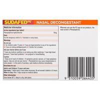 Sudafed PE Nasal Decongestant Tablets 48 Tablets 4
