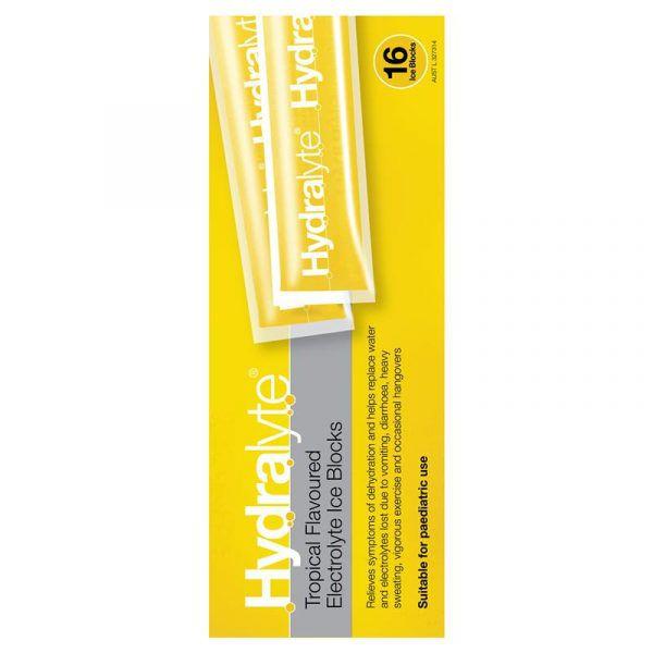 Hydralyte Electrolyte Ice Blocks Tropical 16 5