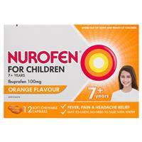 Nurofen Ibuprofen Orange For Children 7+100mg 12 pack 4