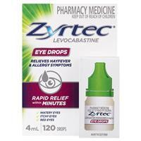 Zyrtec Antihistamine Eye Drops 4mL 8