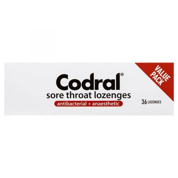 Codral Sore Throat Lozenges Antibacterial + Anaesthetic Lime 36 8