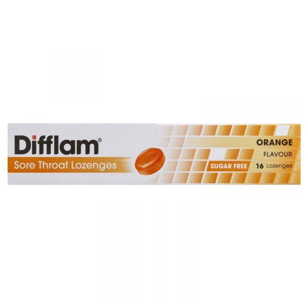 Difflam Sugar Free Orange 16 Lozenges 8