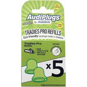 Audiplugs Tradies Pro Refills 5 Pairs