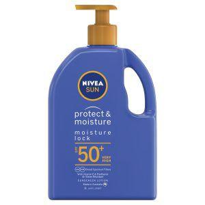 NIVEA Protect & Moisture Moisturising Sunscreen Pump SPF50+ 1L