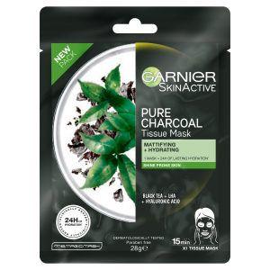 Garnier SkinActive Pure Charcoal Tissue Face Mask Black Tea