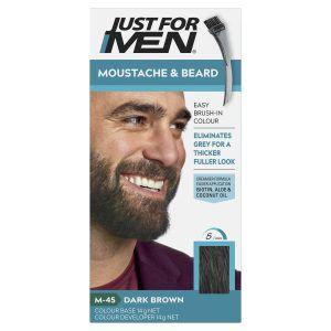 Just For Men Moustache & Beard Brush-In Colour Gel Dark Brown