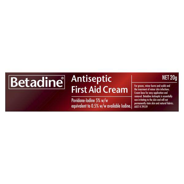 Betadine Antiseptic First Aid Cream 20g 3